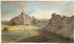 The walls of Tughluqabad and the tomb of Ghiyath al-Din Tughluq